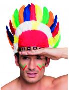 Copricapo da indiano con piume colorate