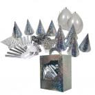 Kit cotillon 10 persone argento