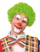 Parrucca afro verde fluo da clown adulti