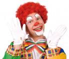 Parrucca afro rossa da clown adulti