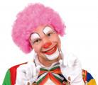 Parrucca afro rosa fluo da clown adulti