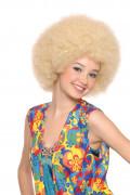 Parrucca afro disco bionda adulti