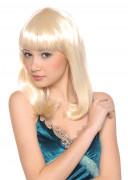 Parrucca di media lunghezza bionda donna