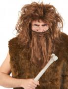 Parrucca e barba uomo delle caverne castana