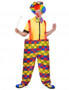 Costume da clown uomo multicolore
