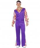 Costume hippie adulto viola da uomo
