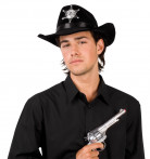 Cappello da sceriffo nero adulto