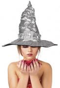 Cappello da strega argento adulto Halloween