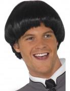 Parrucca corta capelli neri da uomo
