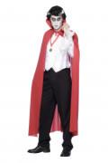 Mantello da Dracula rosso adulto Halloween