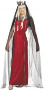 Costume regina medievale donna