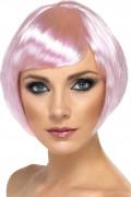 Parrucca corta glamour rosa donna