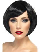 Parrucca corta glamour nera donna