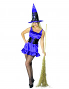 Costume da strega sexy con corsetto per donna