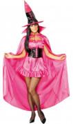 Cappa da strega rosa donna halloween