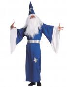 Costume da mago blu da uomo