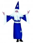 Costume da mago blu per bambino