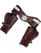 Cinturone marrone per pistole cowboy