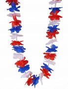 Collana rossa, bianca e blu per adulto