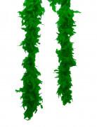 Boa di finte piume verdi