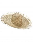 Cappello di paglia chiaro Hawaii adulto