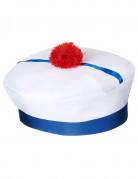 Cappello da marinaio con pompon per adulto
