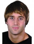 Parrucca corta moderna marrone uomo