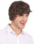 Parrucca corta moderna castano scuro uomo
