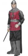 Costume da cavaliere medievale delle crociate per uomo