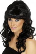 Parrucca capelli lunghi e neri donna