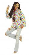 Camicia floreale hippy adulto