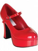 Scarpe di vernice rosse adulto Halloween