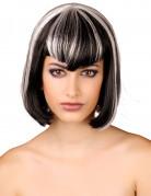 Parrucca nera e bianca donna
