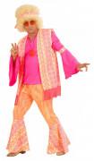 Costume hippie rosa uomo