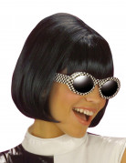 Parrucca caschetto nero donna