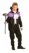 Costume conte Dracula viola ragazzo Halloween