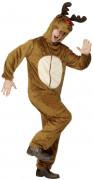 Costume renna adulto Natale effetto peluche