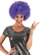 Parrucca afro/disco/clown viola confort adulto
