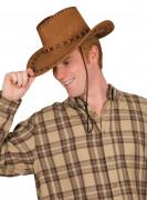 Cappello da cowboy marrone
