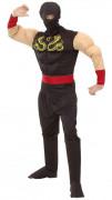 Costume ninja muscoloso uomo