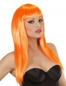 Parrucca glamour arancio donna