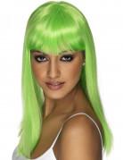 Parrucca glamour verde fluo donna