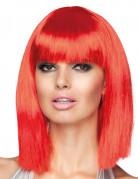 Parrucca caschetto media lunghezza rossa donna