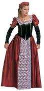 Costume principessa medievale effetto velluto per donna