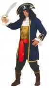 Costume da Pirata blu e oro uomo