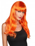 Parrucca da sirena arancione donna