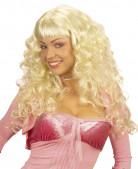 Parrucca bionda lunga riccia donna