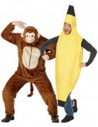 Costume coppia scimmia e banana adulto