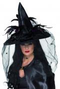 Cappello da strega deluxe adulti Halloween