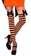 Calze a righe arancioni e nere adulti Halloween